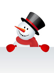 Snowman with white blank