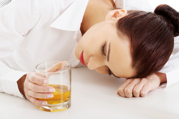 Woman with an alcohol problem