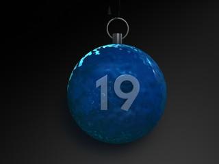 Weihnachtskugel 19 - 3D