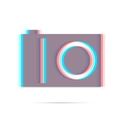 Digital camera flat anagliph icon