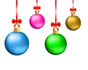 festive christmas background with balls