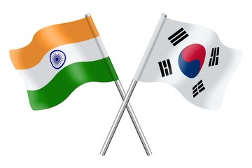 Flags: India and South Korea