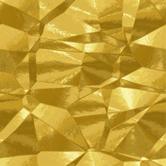 Abstract background gold texture resembling metal foil