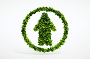 Eco up arrow icon