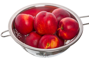 Nectarines  in colander