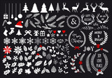 White Christmas set, vector design elements