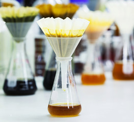 Filter samples with fluted filter paper