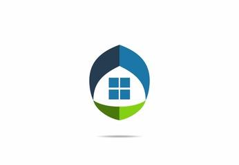 Real Estate , house, home, grass, logo, vector
