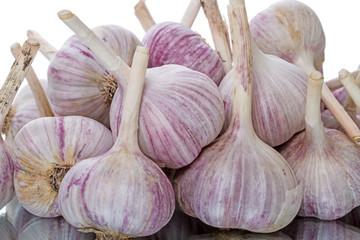 Pile garlic