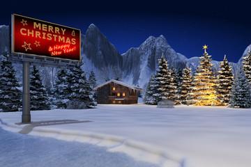 Schneelandschaft Billboard