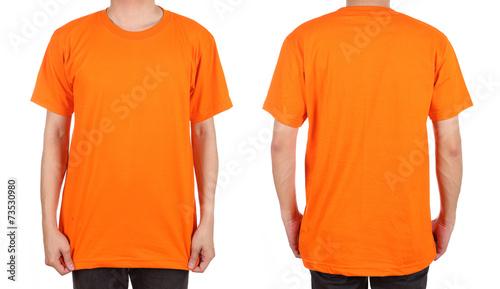 blank white t-shirt set on man - 73530980