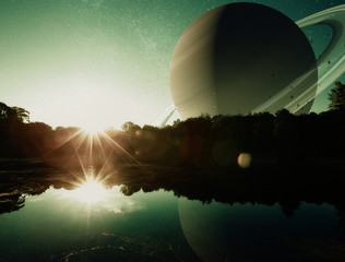 Fantasy Planet Sunrise