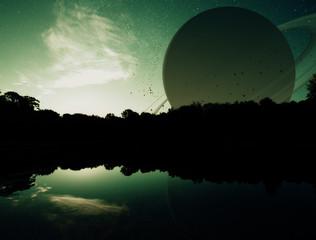 Fantasy Planet Sunset