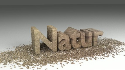 Natur Holz 3d Animation
