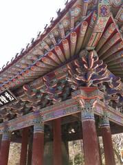 detail of vivid Korea temple