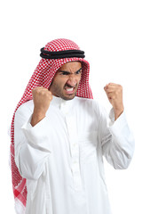 Angry and furious arab saudi man