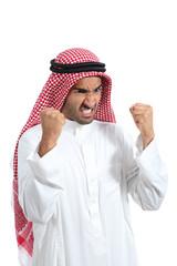 Angry and furious arab saudi man