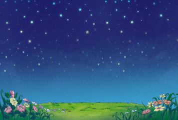 fondo de noche estrellado