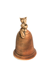 Statuette of a cat on the bell