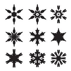Set of black stars