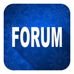 forum flat icon, christmas button