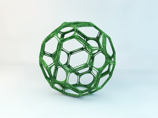 Green abstract structure