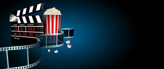 ciack, cinema, film, fotogrammi, rullino