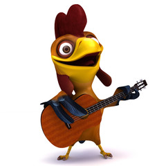 Chicken and guitar