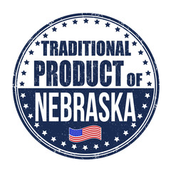 Traditional product of Nebraska stamp