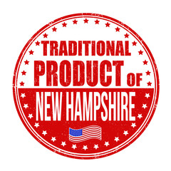 Traditional product of New Hampshire stamp