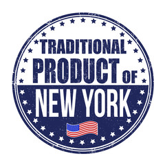 Traditional product of New York stamp