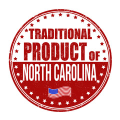 Traditional product of North Carolina stamp