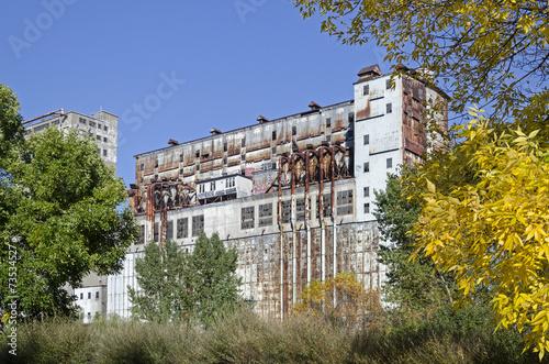 canvas print picture Industriegebiet - Halle