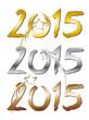 Gold, Silber, Bronze - 2015 - Jahreszahl