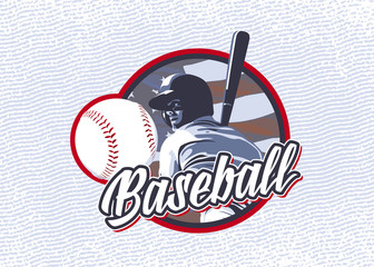 Label baseball player hitting