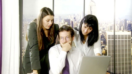 Busines people at work in office in New York
