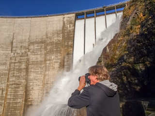 Dam of Contra Verzasca, sunknowed fotograph near the spectacular