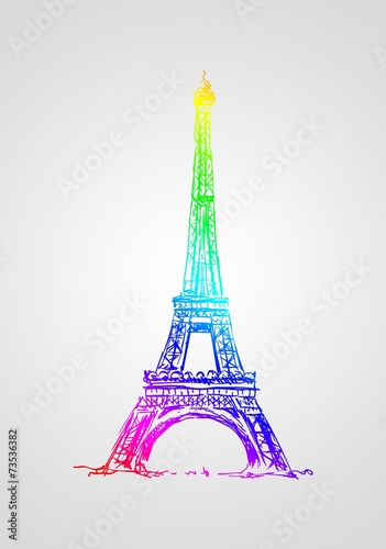 Paris art design illustration - 73536382
