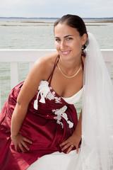 La mariée est en pose