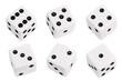 canvas print picture - White dice