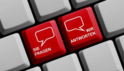 Hilfe online: Sie fragen wir antworten