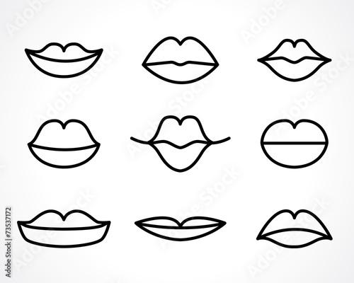woman lips - 73537172