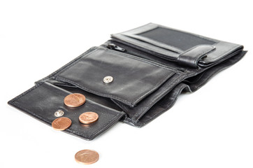few money in wallet