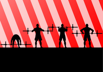 Crossfit training with weights vector background concept