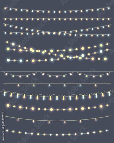 christmas lights poster