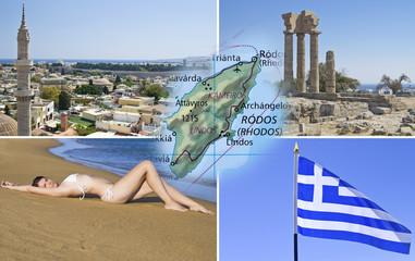 Rhodes island and Rhodes city