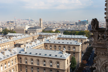 Roofs of Paris, France.