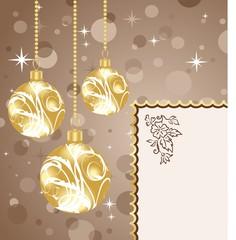 Christmas balls with card