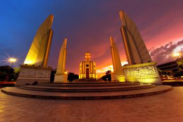 twilight Thai democracy monument,bangkok