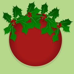 Christmas holly berry vintage holiday decoration illustration ba